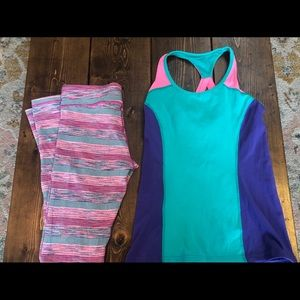 Size 14 Ivivva outfit. Leggings and tank